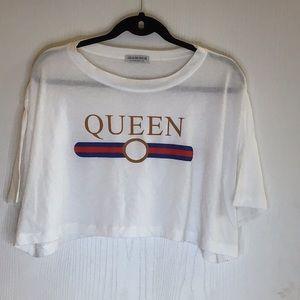 "Tops - Fashion Nova ""Queen"" Crop Top"